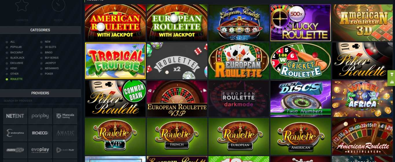 1xBet roulette bets