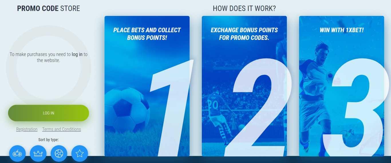 1xBet bonus points